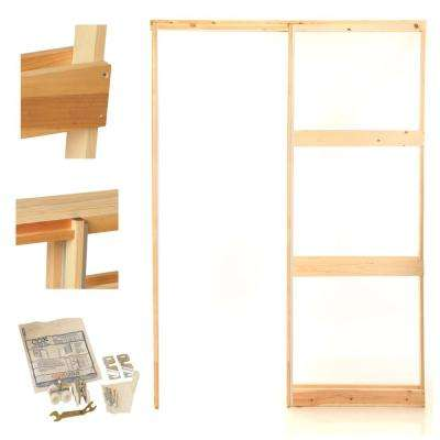 32 in. Knock Down Wood Pocket Door Frame