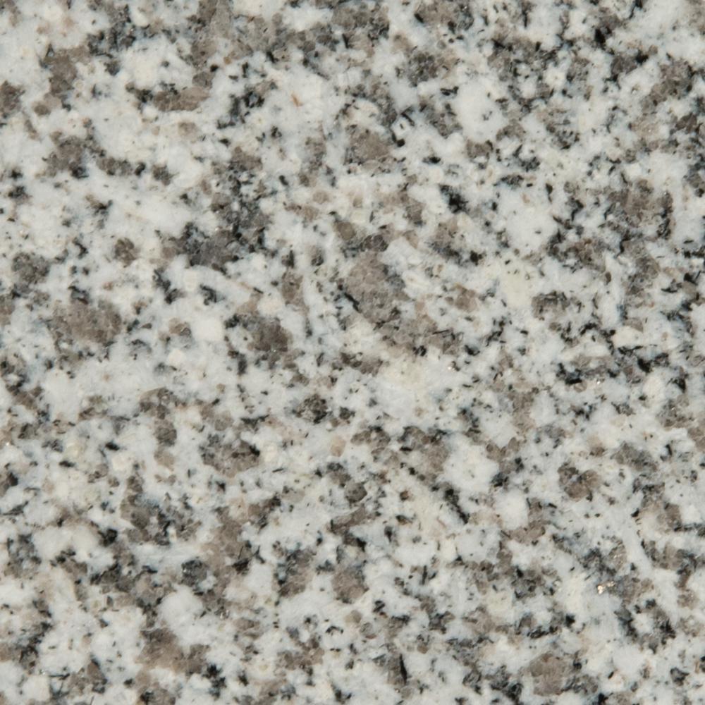 3 in. x 3 in. Granite Countertop Sample in White Sparkle