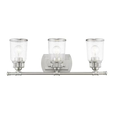 Lawrenceville 3 Light Brushed Nickel Bath Vanity