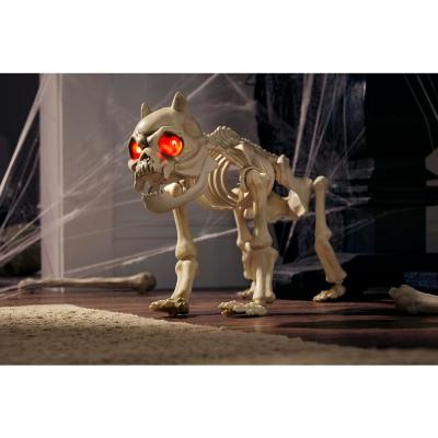 19 in. Animated Halloween Skeleton Dog