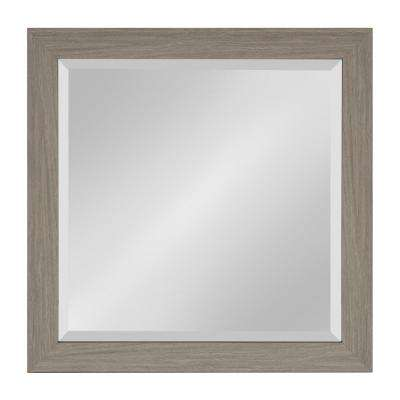 Scoop Rectangle Gray Accent Mirror