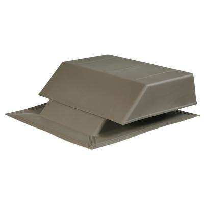 150 sq. in. NFA Plastic Slant-Back Roof Louver Static Vent in Weatherwood (Sold in Carton of 2 only)