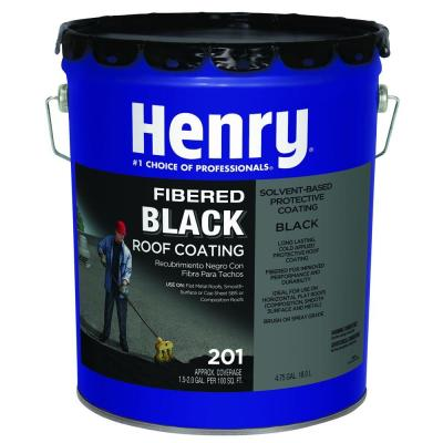Henry 201 Fibered Black Asphalt Roof Coating  - 4.75 Gallon