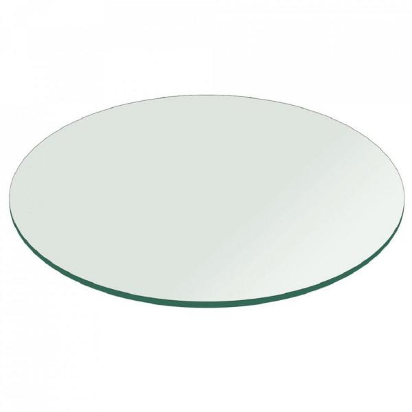 Fab Glass And Mirror 60 In Clear Round Glass Table Top 34 In
