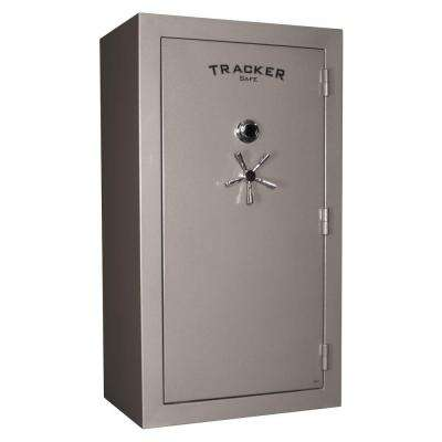 45-Gun Fire-Resistant Combination/Dial Lock Gun Safe, Gray