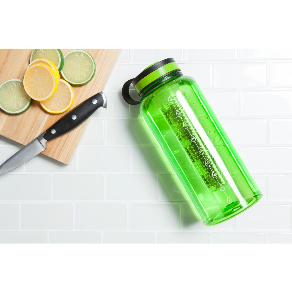 37 oz. Green Tritan Infuser Water Bottle