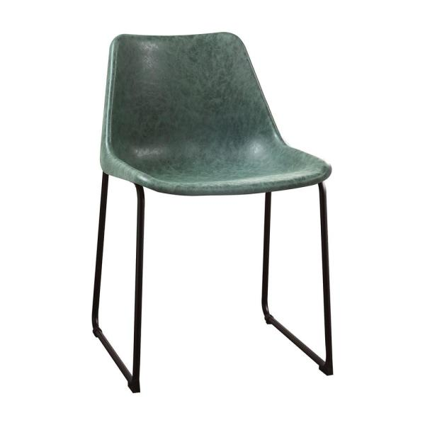 Amelia 2 Pcs. Vintage Green & Black Metal Side Chair