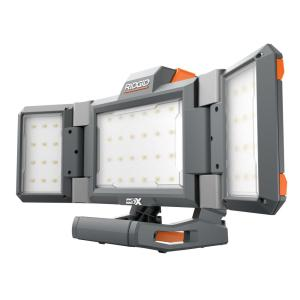 Deals on Ridgid 18-Volt Hybrid Folding Panel Light