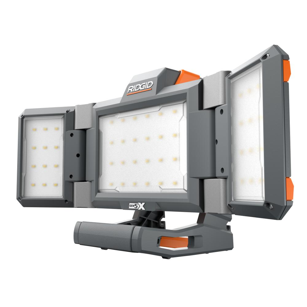 RIDGID Hybrid GEN5X Cordless Folding Panel Light (Tool-Only ...