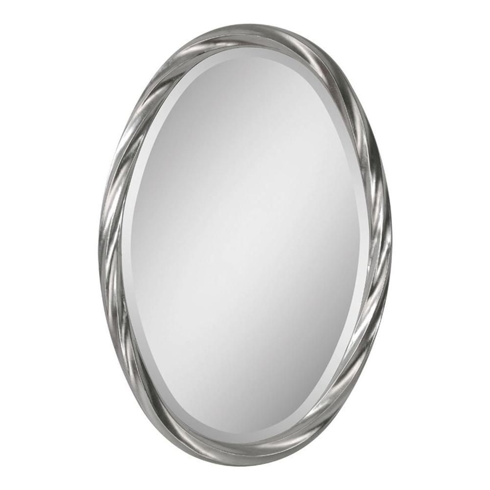 Luna 30 in. x 20 in. Twisted Silver Leaf Framed Mirror