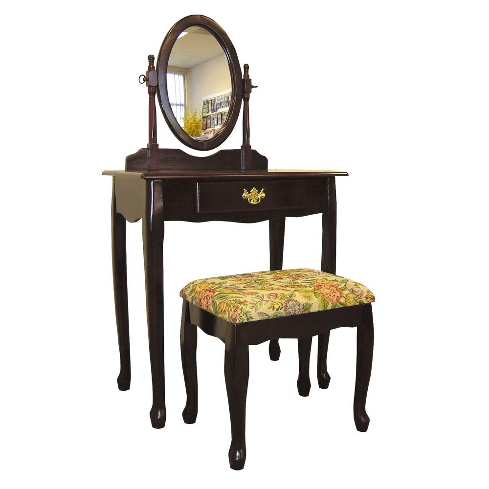 Home Decorators Collection 3-Piece Cherry Vanity Set