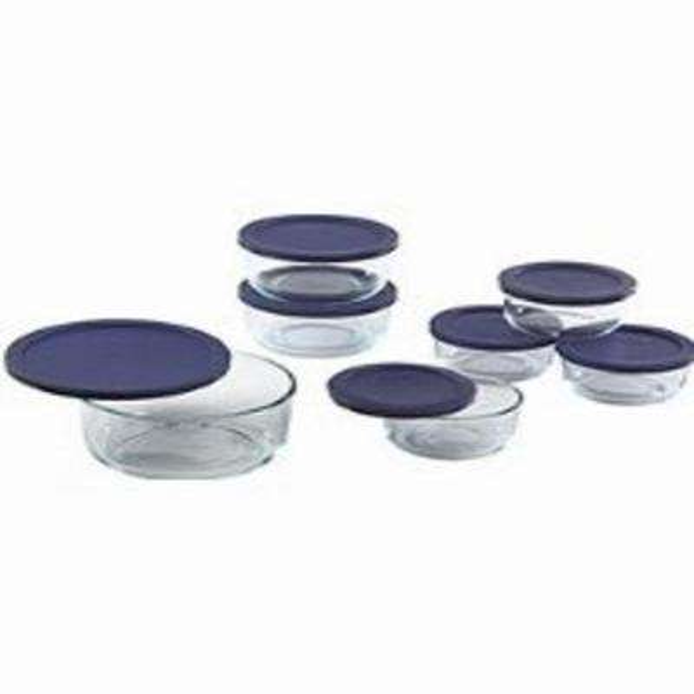 14-Piece Round Glass Baker Set with Lids