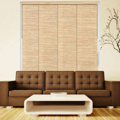 Deluxe Adjustable Sliding Panel / Cut to Length, Curtain Drape Vertical Blind, Natural Woven, Privacy - Nile Reed