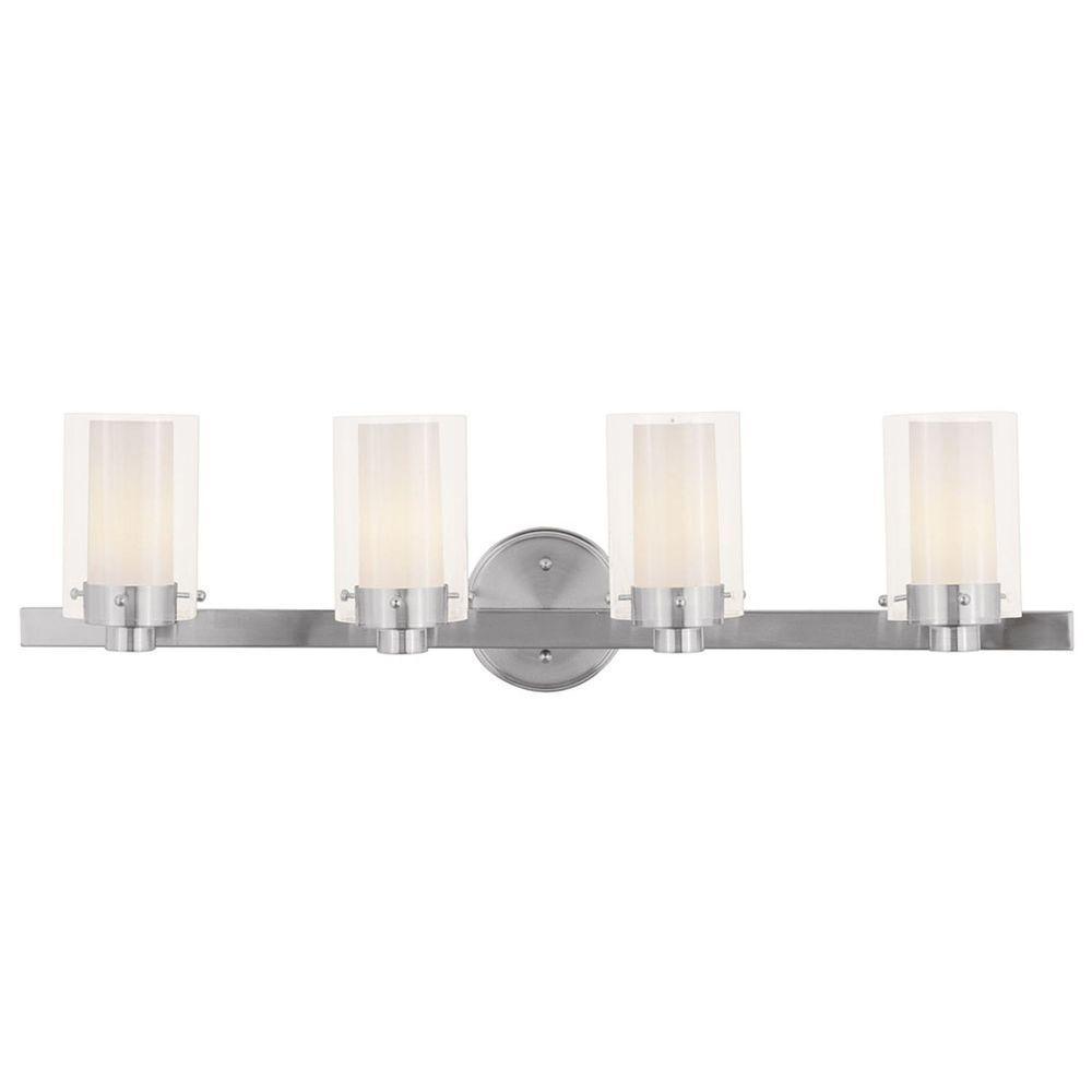 Providence 4-Light Brushed Nickel Incandescent Bath Vanity Light