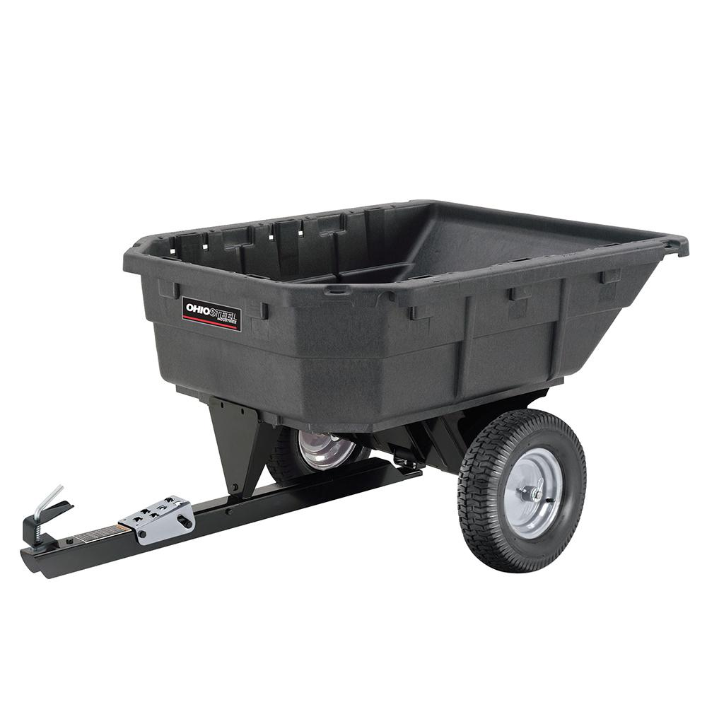 12.5/15.0 cu. ft. Heaped 1000 lb. Poly Swivel Dump Cart