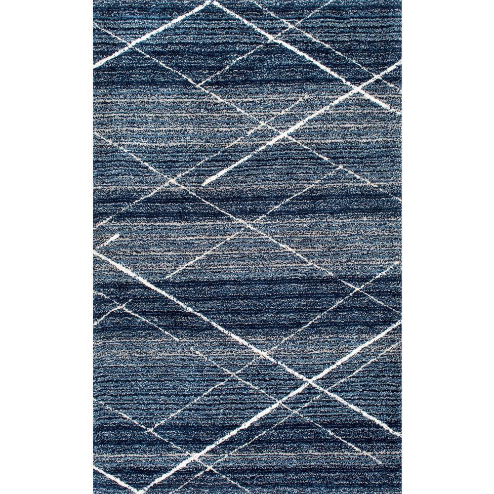 Nuloom Trellis Vito Shag Blue 5 Ft X 8 Area Rug