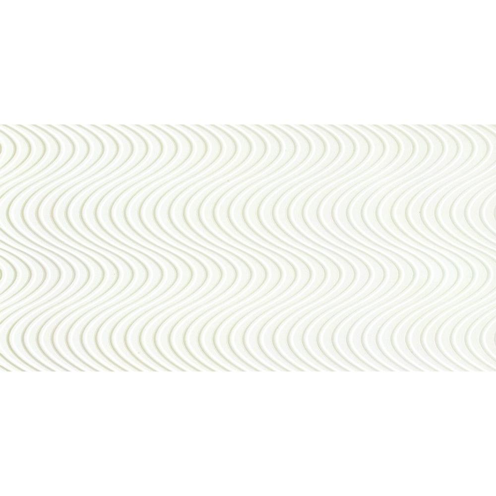 Emser Surface Wave White 11-81/100 in. x 23-31/50 in. Porcelain Floor and Wall Tile (15.36 sq. ft. / case)