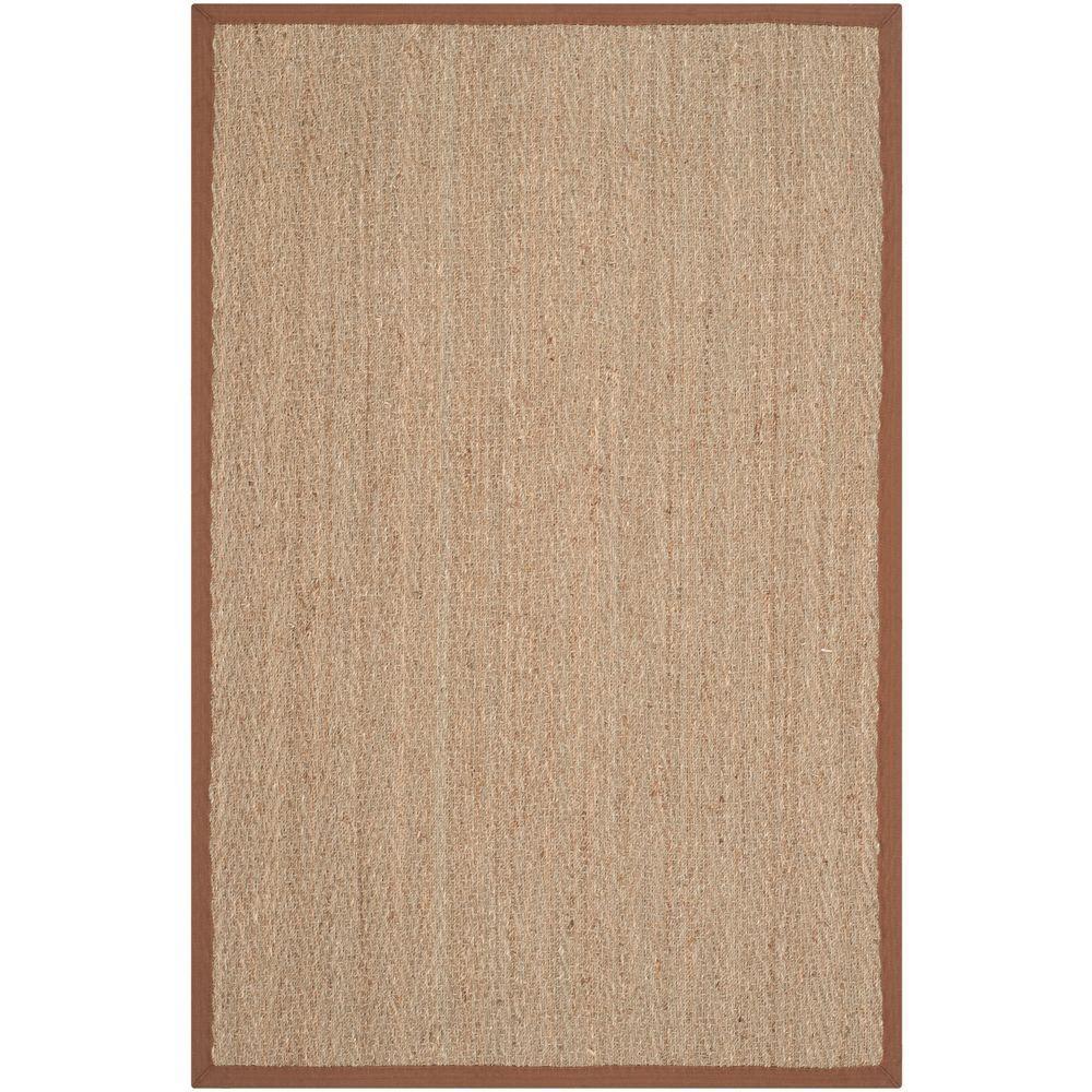 Natural Fiber Beige/Brown 2 ft. 6 in. x 4 ft. Area