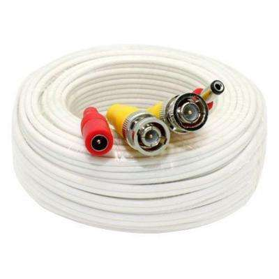 100 ft. Premade Premium Siamese Power Video Cable - White