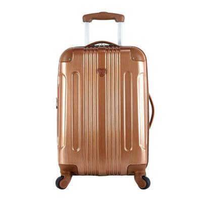 20 in. Hardside Metallic Rolling Carry-on with Spinners