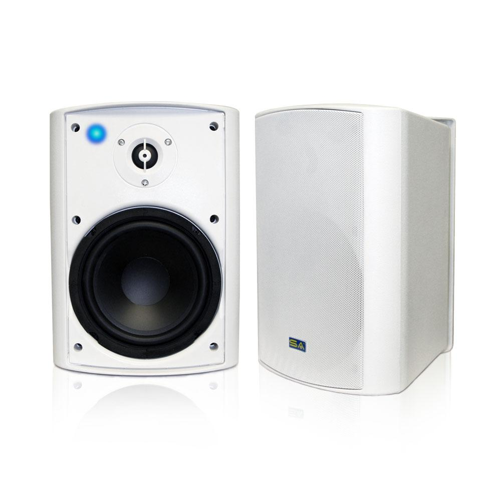 Sound Appeal Bluetooth 6 50 in  Indoor/Outdoor Weatherproof Patio Speakers  Wireless Outdoor Speakers, White