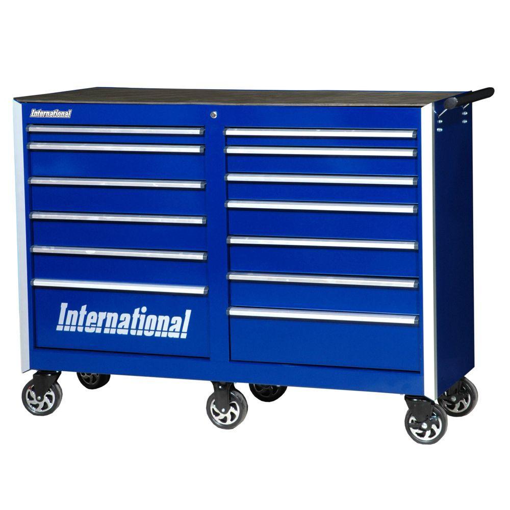 International Pro Series 54 in. 13-Drawer Cabinet, Blue