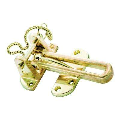Polished Brass Security Pin Swing Door Guard