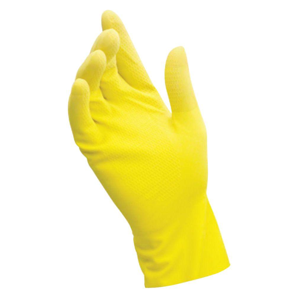 Grease Monkey Large X Large Yellow Latex Reusable Gloves 5 Pairs