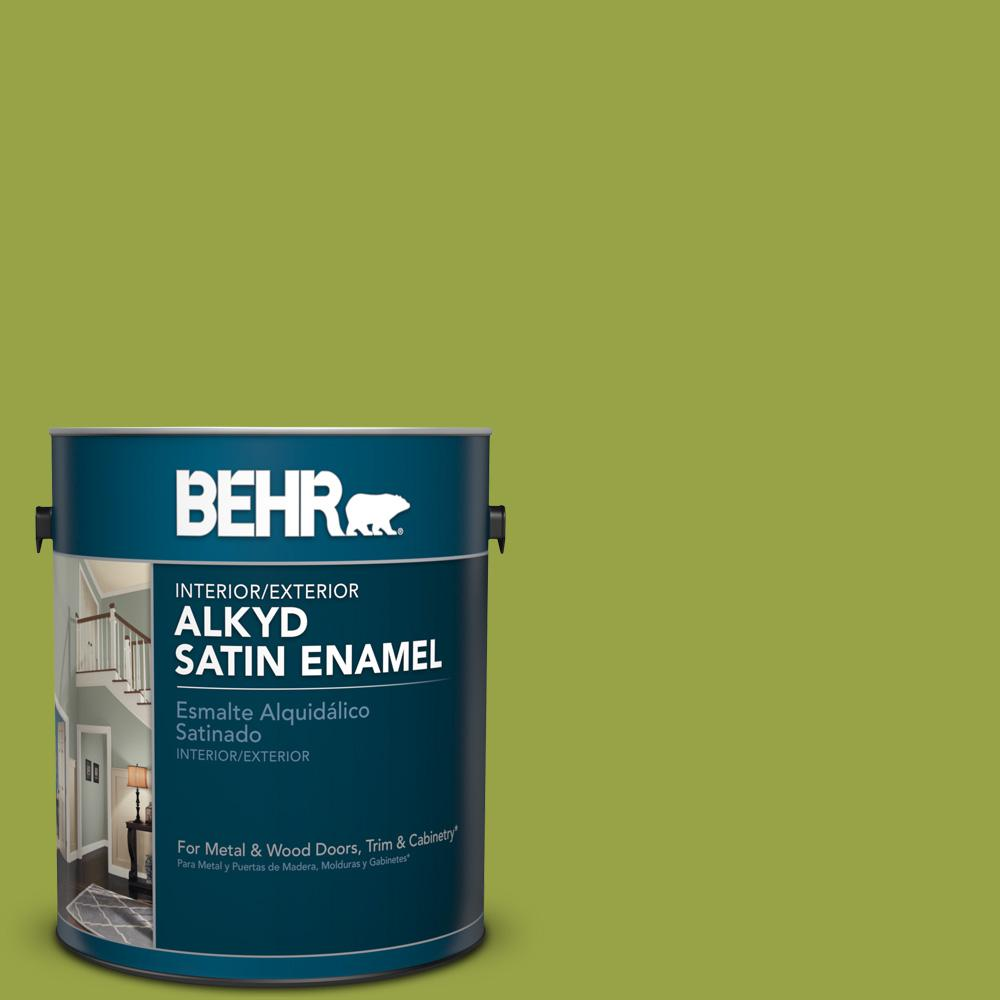 1 gal. #P360-6 Fresh Apple Satin Enamel Alkyd Interior/Exterior Paint