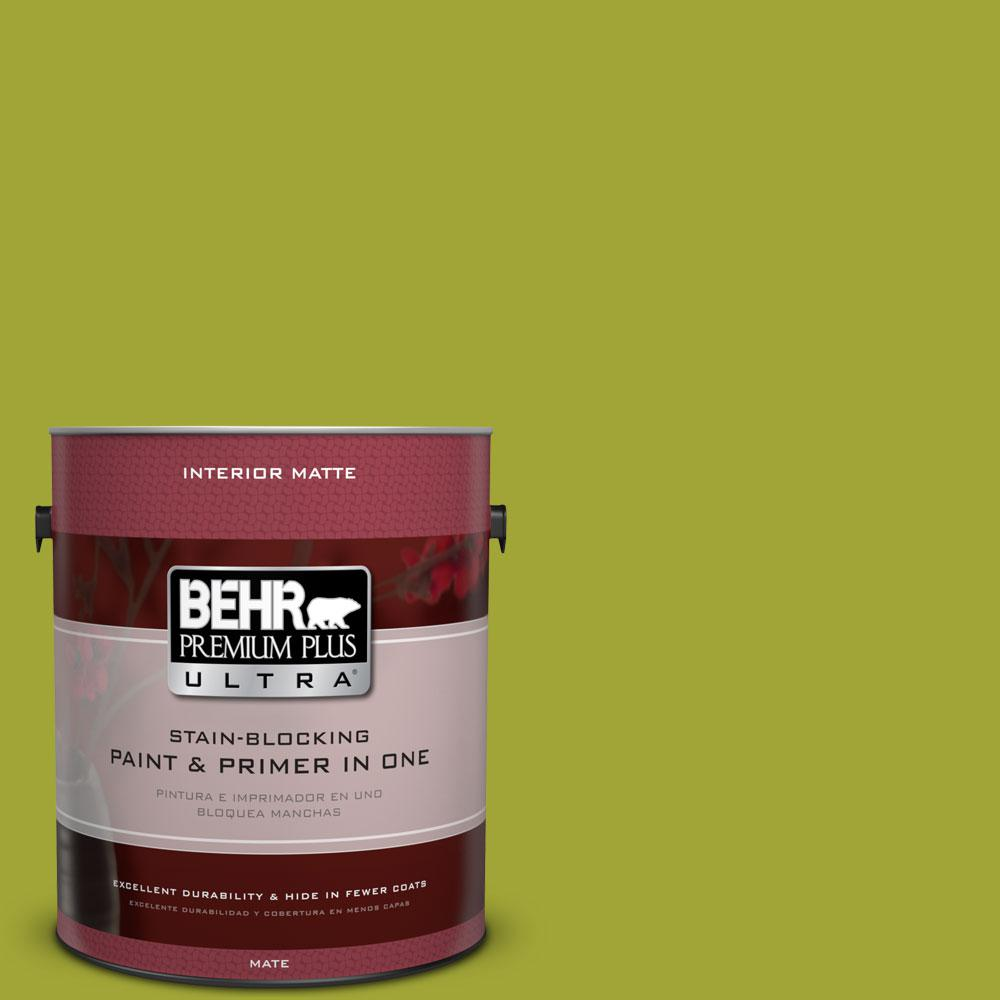 BEHR Premium Plus Ultra 1 gal. #S-H-400 Rolling Hills Matte Interior Paint and Primer in One