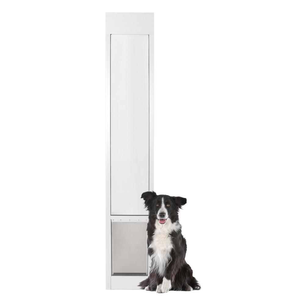 PetSafe 10-1/4 in. x 16-3/8 in. Large White Freedom Patio Panel (76 in. to 81 in.) Pet Door
