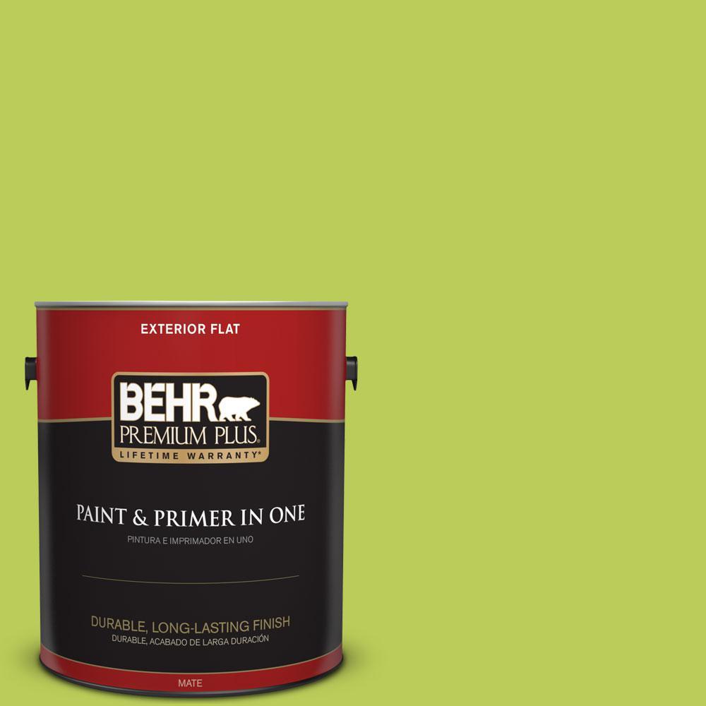 1-gal. #410B-5 Hidden Meadow Flat Exterior Paint