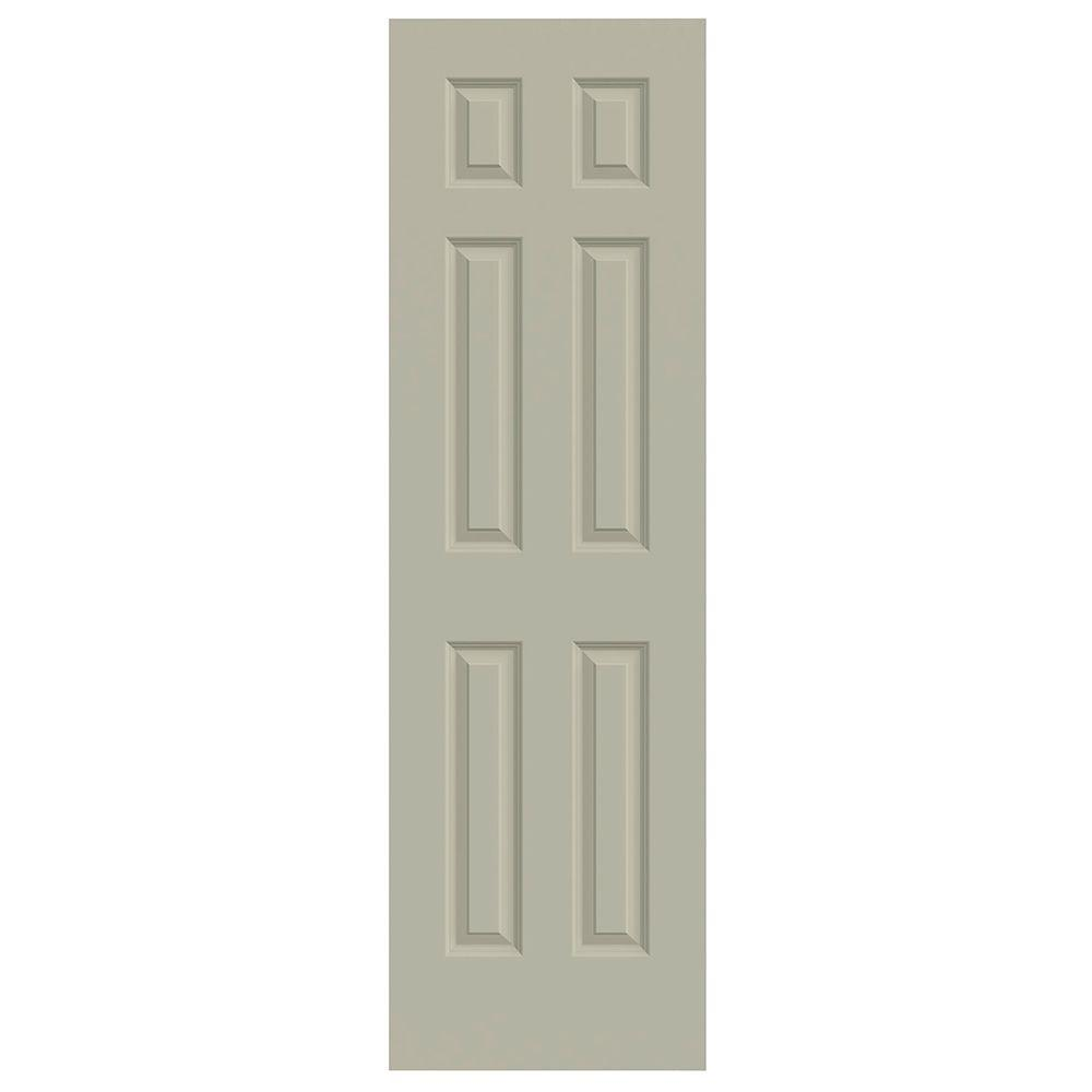 JELD-WEN 24 in. x 80 in. Colonist Desert Sand Painted Smooth Solid Core Molded Composite MDF Interior Door Slab