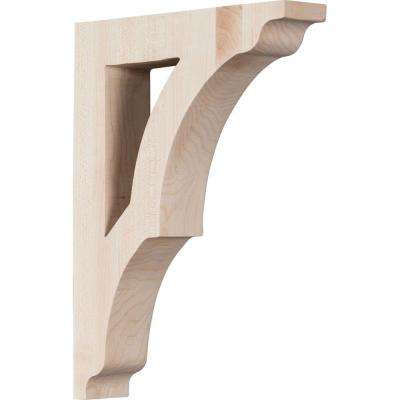 1-3/4 in. x 10-1/2 in. x 7-1/2 in. Red Oak Medium Avila Bracket