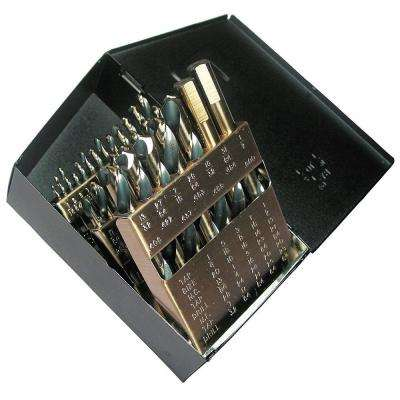 High Speed Steel 135 Split Point Mechanic Length Black and Gold Drill Bit Set (29-Piece)