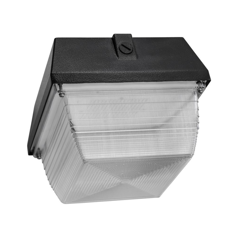 G AMERICAN GREENPOWER 90-Watt 7500 Lumen White Aluminum Integrated LED Flush Mount Canopy Square