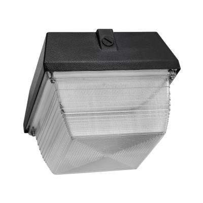 90-Watt 7500 Lumen White Aluminum Integrated LED Flush Mount Canopy Square