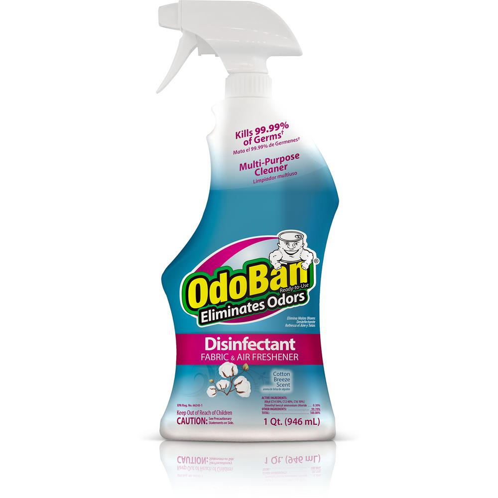 OdoBan 32 oz. Ready-to-Use Cotton Breeze Disinfectant, Fabric and Air Freshener, Mold and Mildew Control, Multi-Purpose Spray