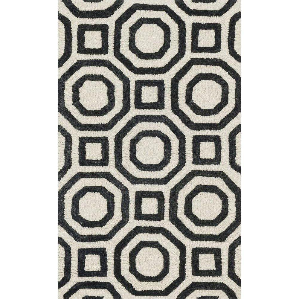 Loloi Rugs Weston Lifestyle Collection Ivory/Black 2 ft. 3 in. x 3 ft. 9 in. Accent Rug