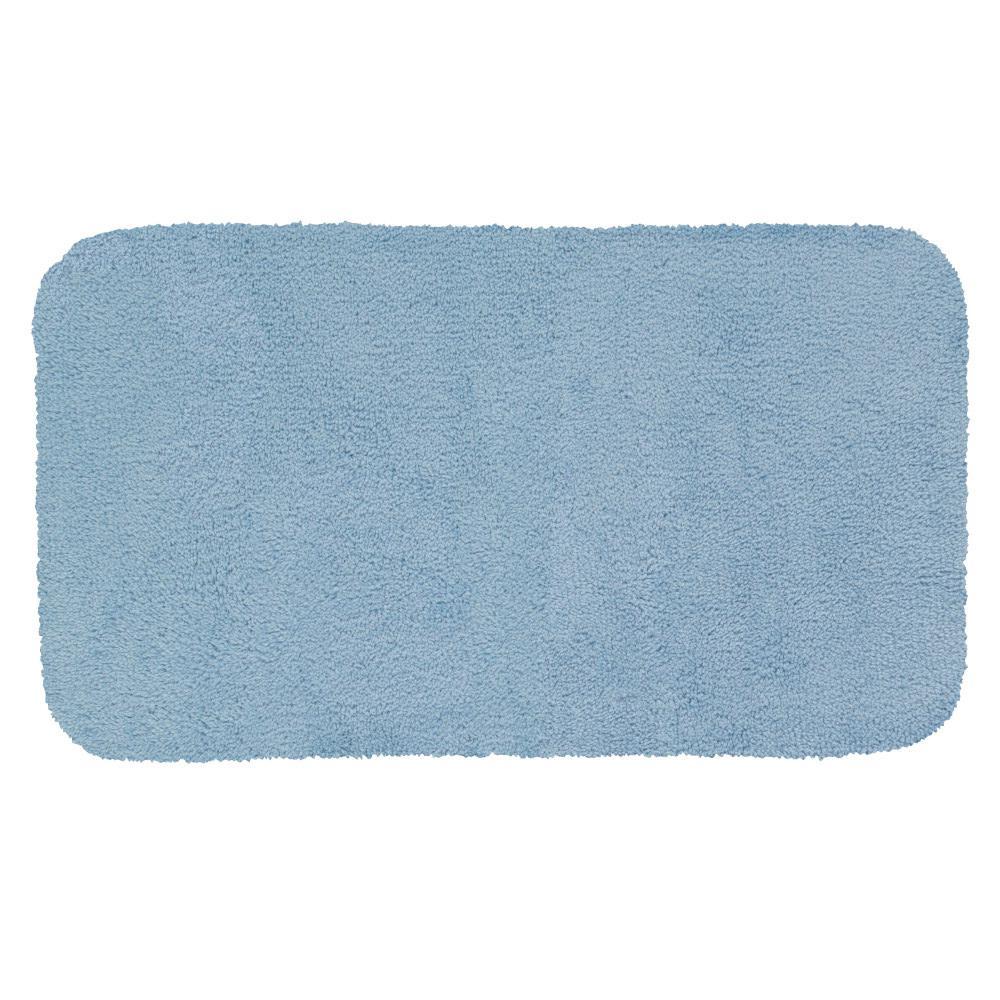 Legacy Blue Mist 24 in. x 40 in. Nylon Machine Washable Bath Mat