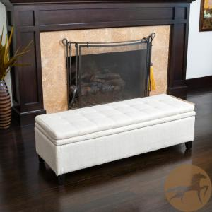 Prime Noble House Brighton Ivory Linen Storage Bench 361 The Machost Co Dining Chair Design Ideas Machostcouk