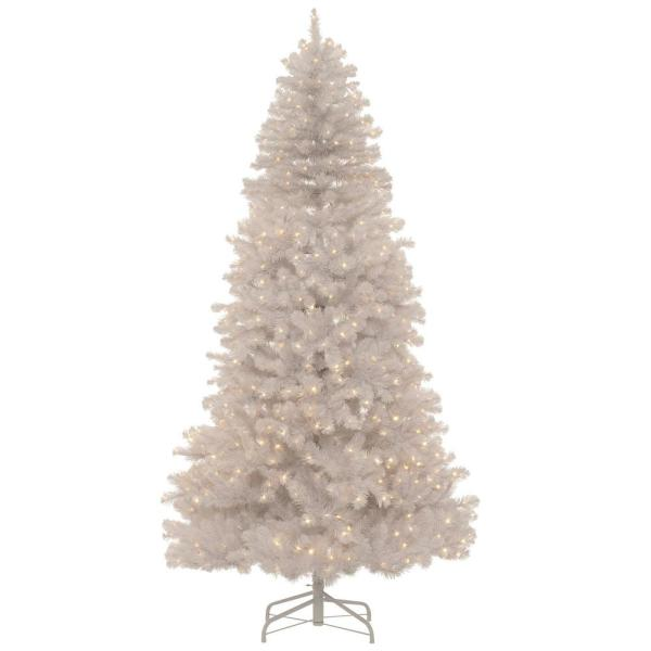 Home Accents Holiday 7 5 Ft Uptown Noble Fir Led Pre Lit Artificial Christmas Tree With 700 Color Changing Micro Dot Lights And 8 Functions W14n0126 The Home Depot