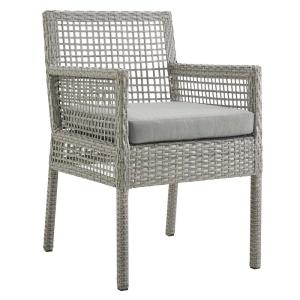 Swell Modway Aura Gray Outdoor Patio Wicker Rattan Dining Armchair Gmtry Best Dining Table And Chair Ideas Images Gmtryco
