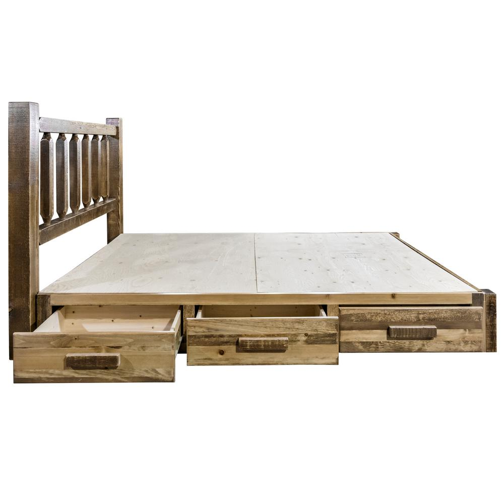 Homestead Collection Medium Brown California King Platform Bed with Storage