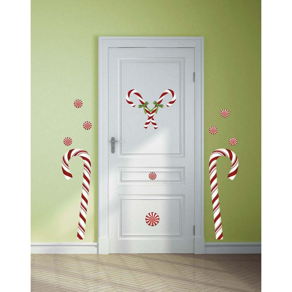 5 in. x 19 in. Candy Cane Peel and Stick Giant
