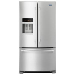 Click here to buy Maytag 36 inch W 24.7 cu. ft. French Door Refrigerator in Fingerprint Resistant Stainless Steel by Maytag.