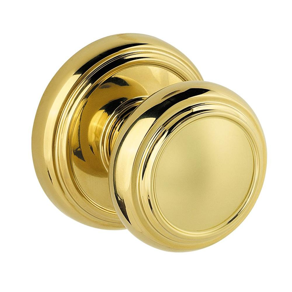 Baldwin Prestige Alcott Polished Brass Hall/Closet Knob