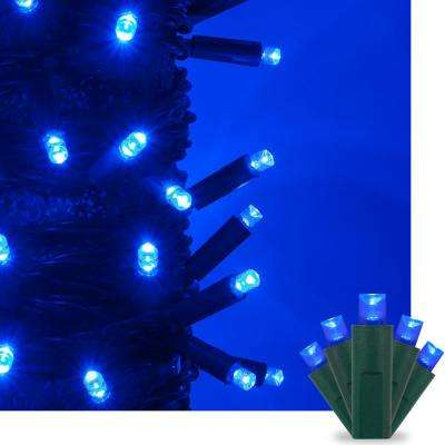17 ft. 50-Light Blue 5 mm LED Mini Light Set