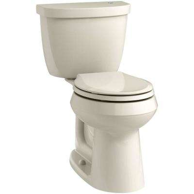 Cimarron Touchless Comfort Height 2-Piece 1.28 GPF Single Flush Round Toilet in Almond, Seat Not Included