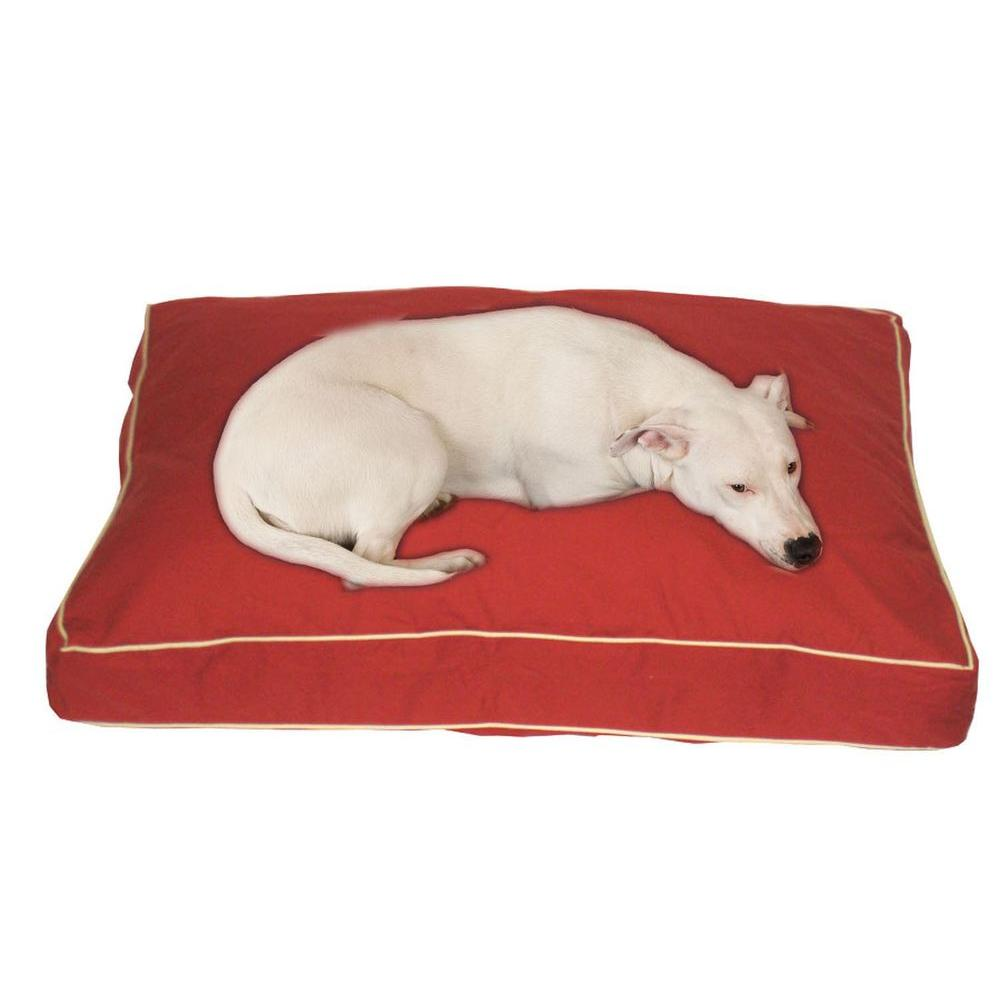 Medium Classic Twill Rectangle Jamison Bed - Red